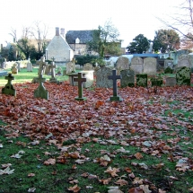 Leaves in churchyard